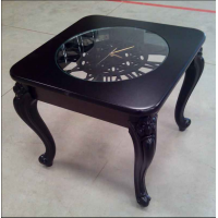 Стол журнальный Часы черный