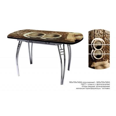 Стол обеденный раздвижной с фотопечатью Арабика