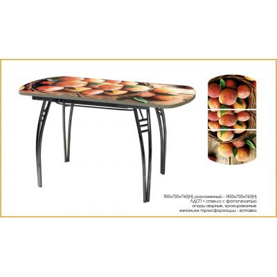 Стол обеденный раздвижной с фотопечатью Персики