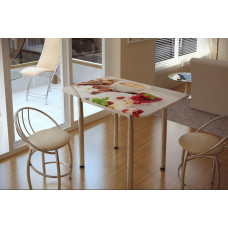 Стол обеденный с принтом Десерт
