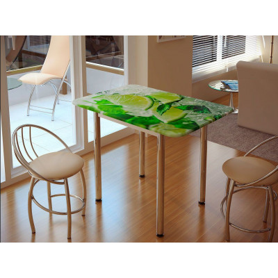 Стол обеденный с принтом Лайм от производителя BTS мебель