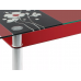 Стол обеденный 3.7 красный от производителя Мебель из стекла