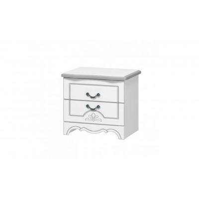 Тумба прикроватная Лотос Белый жемчуг от производителя Браво Мебель