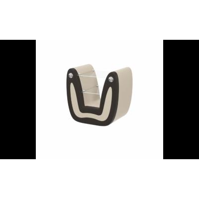 Тумба прикроватная из экокожи №4, шоколад/беж