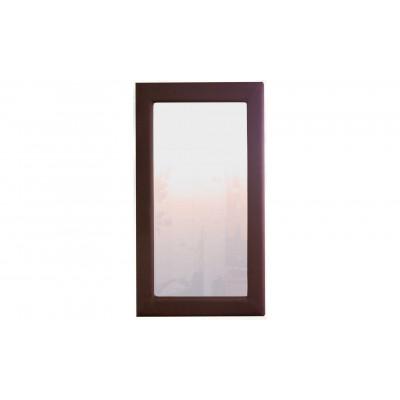 Зеркало настенное из экокожи, белый, беж, черный, шоколад