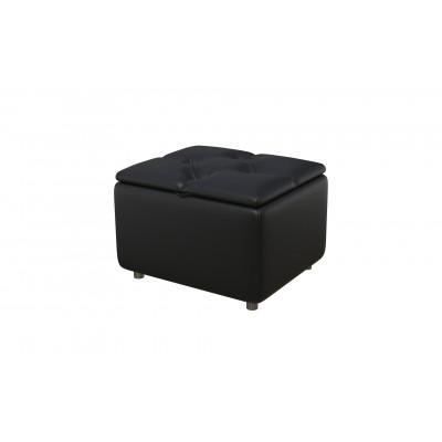 Банкетка из экокожи-2 черная