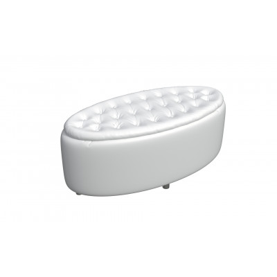 Банкетка из экокожи-1 белая