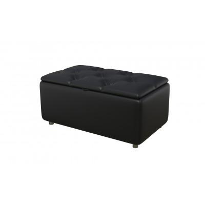 Банкетка из экокожи-3 черная