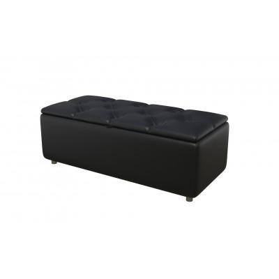 Банкетка из экокожи-4 черная