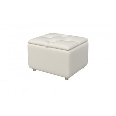 Банкетка из экокожи-2 белая